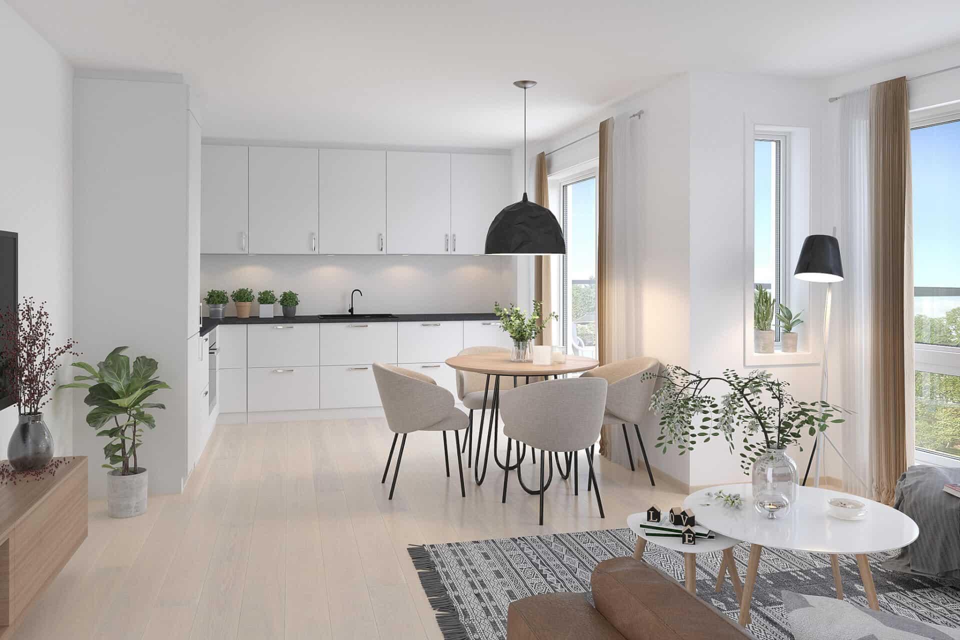 Vigør bolig PEAB Borgundfjord Ålesund 3-roms kjøkken