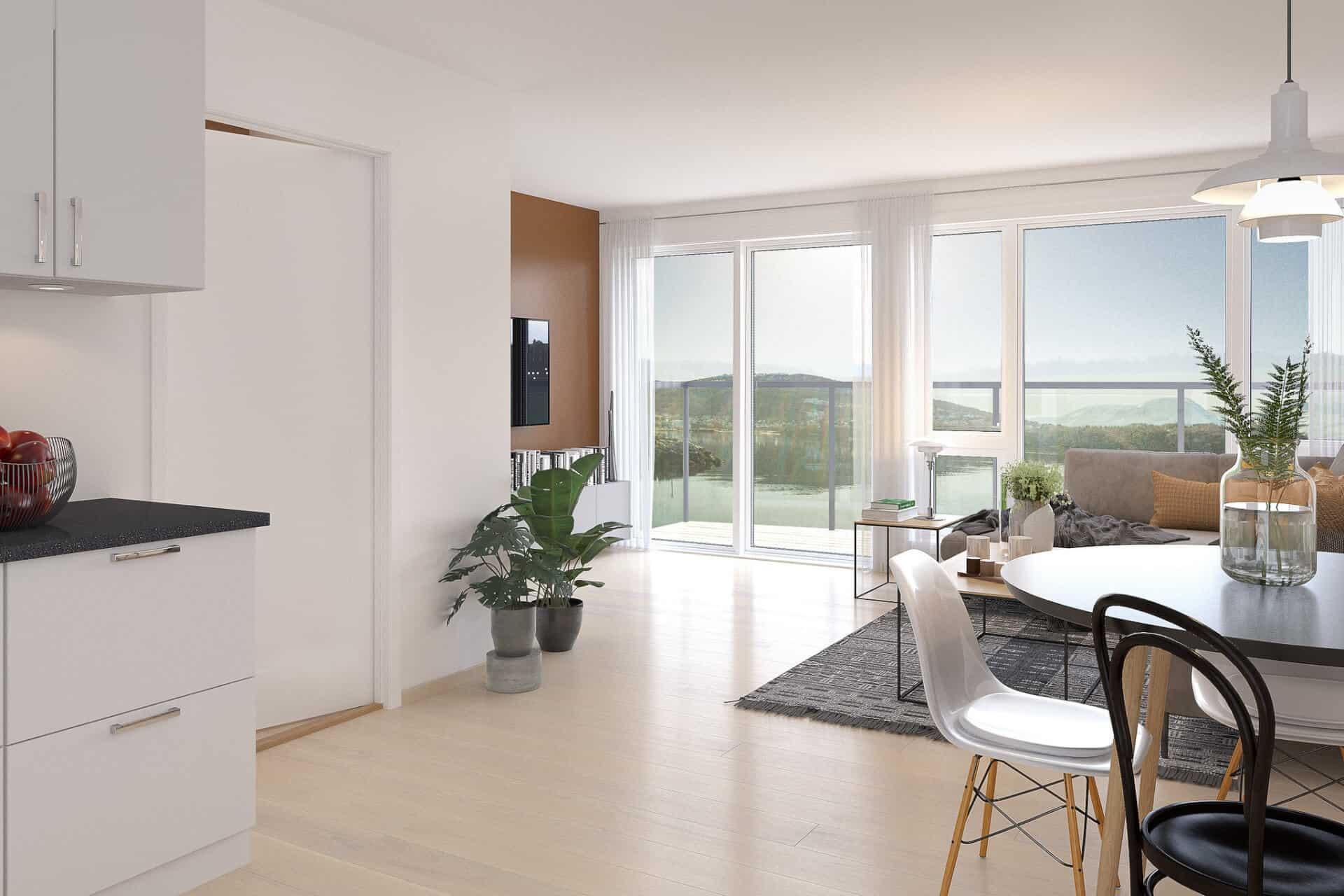 Vigør bolig PEAB Borgundfjord Ålesund 2-roms leilighet
